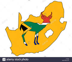 What Colour Is The South African Flag Africa Savannah South Africa Flag Antelope Sign Signal Blue