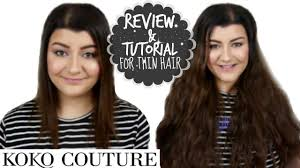 kylie hair couture extensions reviews kylie hair extensions review for thin hair koko couture youtube