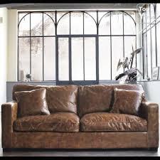 canapé cuir vieilli canapé cuir aspect vieilli jamais servi maison du monde rhône