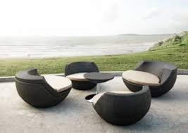Curved Wicker Patio Furniture - concrete outdoor furniture zamp co