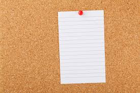 note paper on cork board free stock photo domain pictures