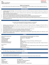 Profile Sample Resume by Android Developer Resume Sample Ios Developer Resume U2013 Naukri Com