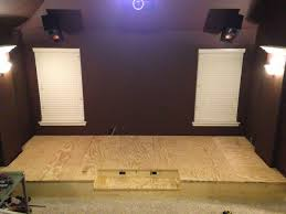 diy i built a riser for my theater media room album on imgur