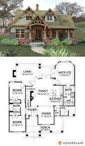 Small Houses Plans Craftsman Mountain House Plan And Elevation 1400sft Houseplans