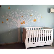 Removable Wall Decals For Nursery Pop Decors 98 In X 80 In Nursery Tree With Owls Removable