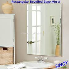 Bevelled Mirror Decorative Bevelled Edge Frameless Mirror Glass In Irregular