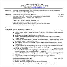A Teacher Resume Examples by Sample Teacher Resume Teaching Resumes For New Teachers Free