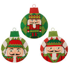 flat ornament shapes with nutcracker design from the raz