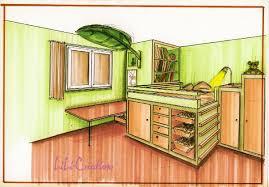 dessin en perspective d une chambre chambre d enfant le de elise fossoux