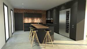 cuisine designe cuisine anthracite et bois ilot design choosewell co