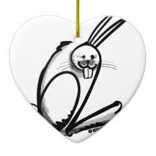rabbit caricature ornaments keepsake ornaments zazzle