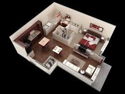chambre en 3d 50 plans en 3d d appartement avec 1 chambres 3d plan gratuit et