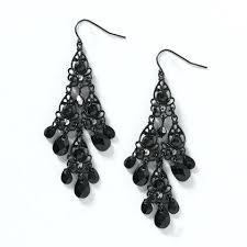 White Chandelier Earrings Black Crystal Chandelier Earrings U2013 Eimat Co
