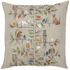 coral and tusk christmas tree trimmers pillow