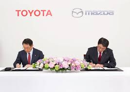 mazda business toyota and mazda strike long term partnership to share tech by car