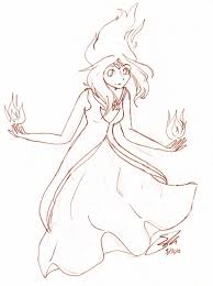 flame princess sketch by black pumpkins on deviantart