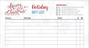 gift list free christmas and hanukkah gift tracker printable pages the