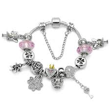 color charm bracelet images Cute pink color charm bracelet free shipping shopping promos jpg