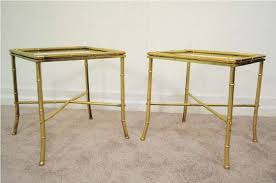 Glass End Tables Brass End Table Glass Top House Design