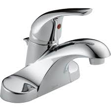 shop delta foundations chrome 1 handle 4 in centerset watersense