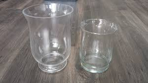 Table Top Ideas Decorating Clear Glass Hurricane Vases For Table Top Decoration Ideas