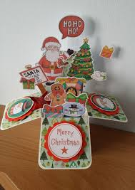 another box card for christmas with snow box cards pop ups