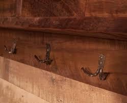 buy handmade reclaimed barnwood coat rack cubby shelf with wrought