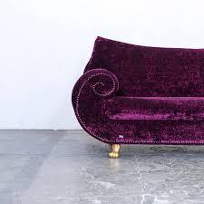 sofa bretz bretz gaudi designer sofa velvet lilac gold fabric two seat