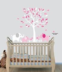 Wall Tree Decals For Nursery Elephant Nursery Tree Decal Pink Wall Stickers