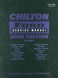 chilton ford service manual 2010 ed vol 1 163657 2008 10 models