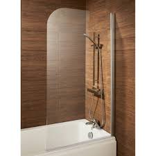 london bathrooms leven round profile bath screen chrome
