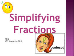 simplifying fractions presentation by milkandchalk teaching