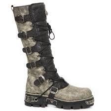 tall motorcycle boots m 272 cz02 distressed beige u0026 black tall new rock boots metallic