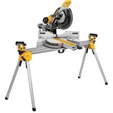 dewalt chop saw table dewalt dws780 305mm sliding compound mitre saw with de7027 legstand