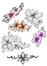 hibiscus flower n butterfly tattoo design real photo pictures