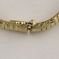 gold omega bracelet images Pre owned diamond cut omega bracelet jpg