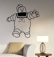marshmallow man wall decal removable vinyl sticker movie art