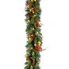 christmas garland christmas wreaths u0026 garland the home depot