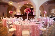 pink rosette table runner rosette tablecloth wedding supplies ebay