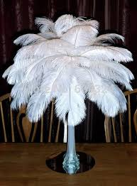 Ostrich Feather Centerpiece Dhl Ems Free Shipping 400pcs 12 14inch White Ostrich Feather
