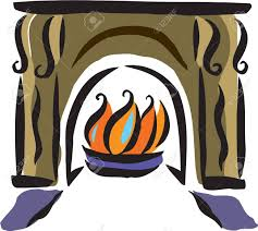 fireplace drawing binhminh decoration