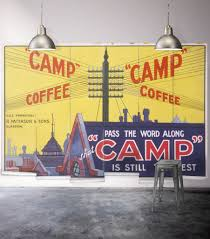 camp coffee wall mural from the erstwhile collection by milton camp coffee wall mural from the erstwhile collection by milton king