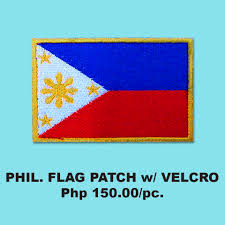 Phippines Flag Philippine Flag Patch With Velcro Icarus Shirts