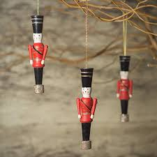 wooden soldier tree decoration wooden trees