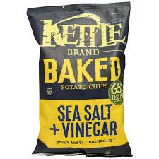 kettle foods baked potato chips sea salt u0026 vinegar 4 oz 113 g