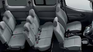 black nissan inside design nissan e nv200 combi electric vehicle people carrier