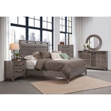 Rustic King Bedroom Sets - rustic contemporary old gray 6 piece king bedroom set bohemian