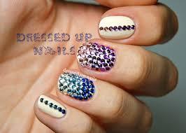 nail art with rhinestones u2013 slybury com