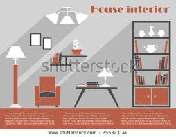 Interior Design Drawing Templates by Office Workplace Interior Design Flat Concept Stock Vector