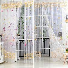 Room Divider Curtains by Aliexpress Com Buy 100cm 200cm Big Butterfly Print Sheer